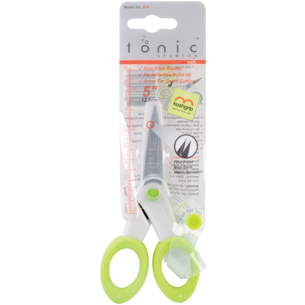 Tonic Non Stick Serrated Fine Tip 5 inch CRAFT SCISSORS zoom image