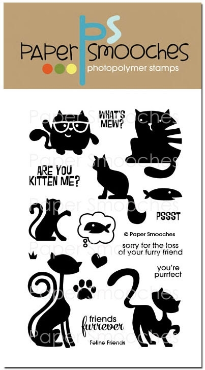 Paper Smooches FELINE FRIENDS Clear Stamps zoom image