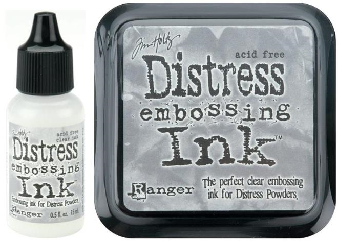 Tim Holtz DISTRESS EMBOSSING INK PAD PLUS REFILL Ranger Set TIM21643 & TIM21827 zoom image