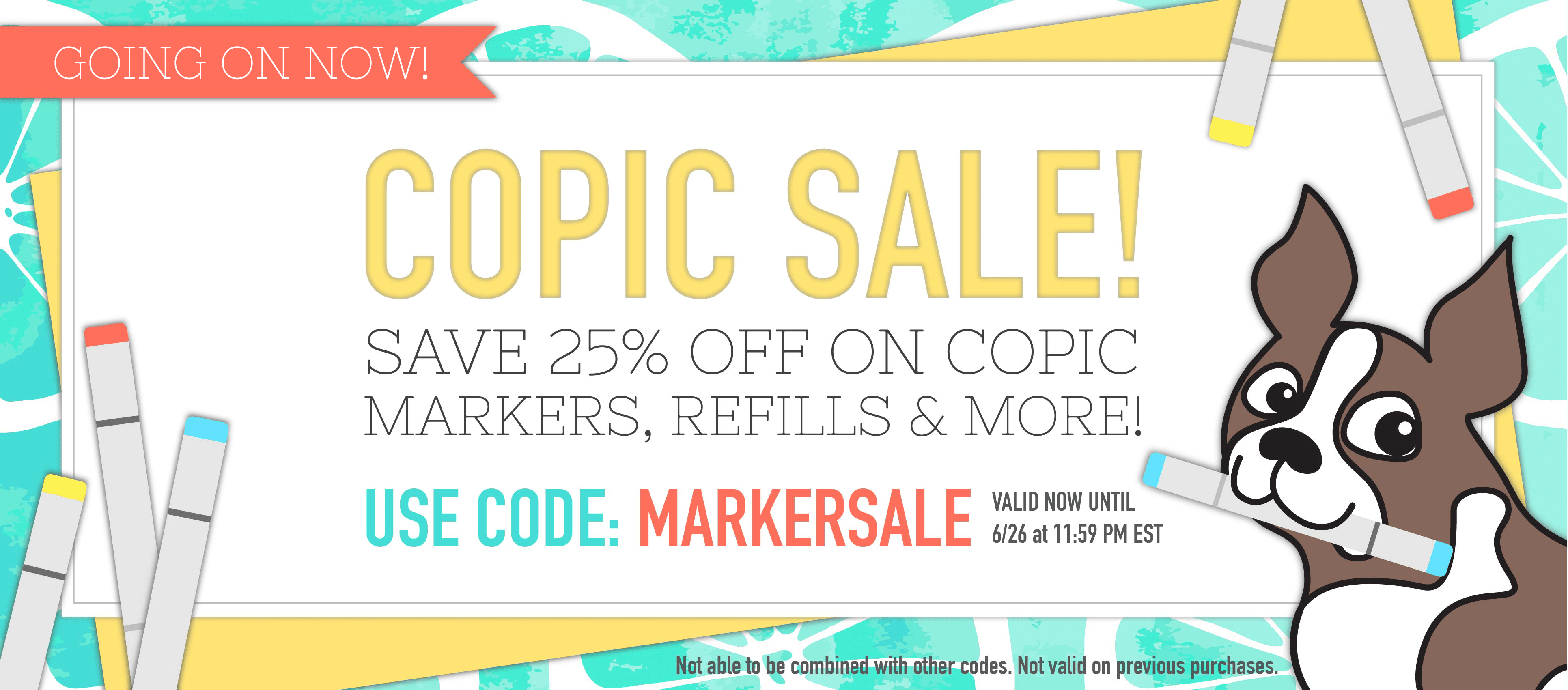 Copic Brand 25% off Sale