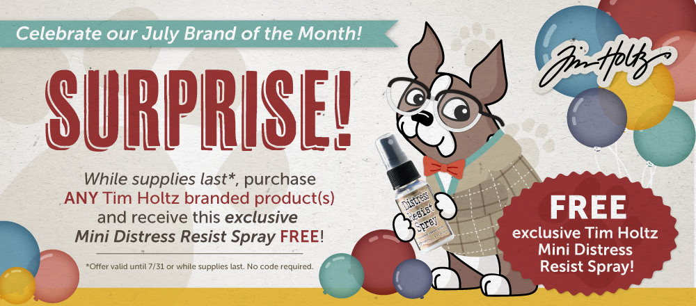 Tim Holtz Brand of the Month Free Gift