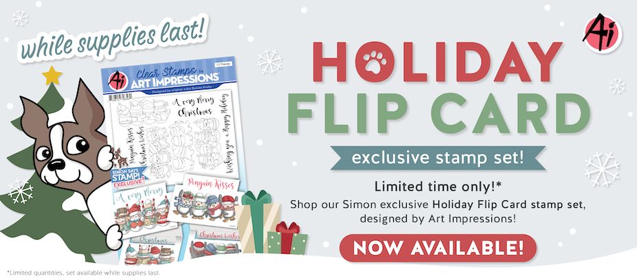 Art Impressions Exclusive Limited Edition Holiday Flip Stamp Set