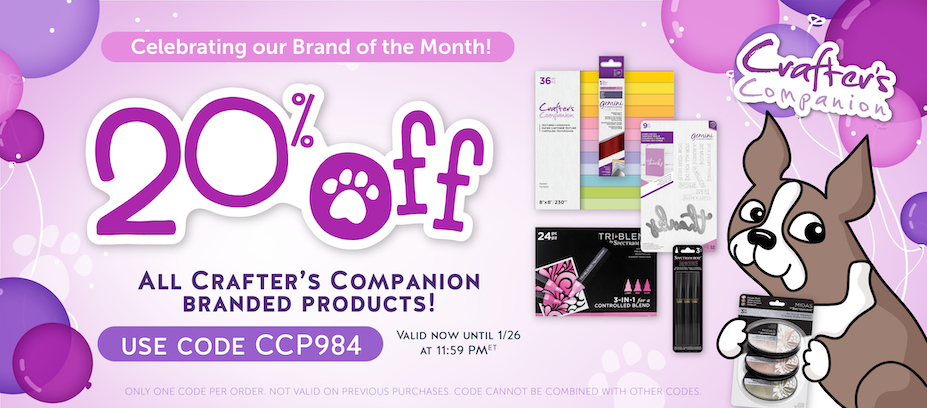 Crafter's Companion Brand of the Month Sale