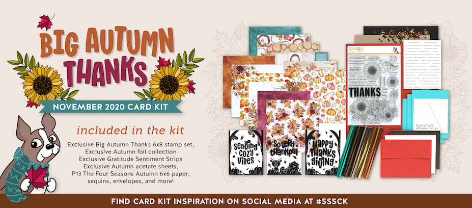 Big Autumn Thanks November 2020 Card Kit
