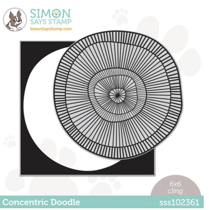 Simon Says Cling Stamp CONCENTRIC DOODLE sss102361 Stamptember