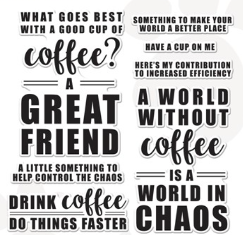 Simon Says Clear Stamps DRINK COFFEE sss302364 Stamptember