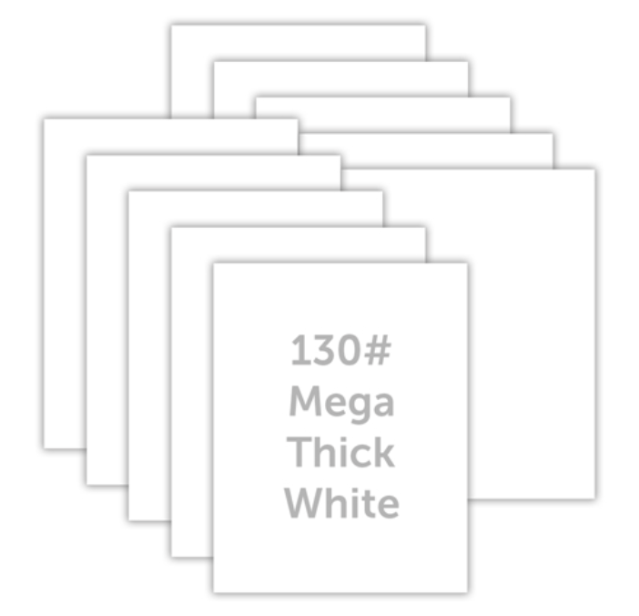 Simon Says Stamp MEGA THICK WHITE CARDSTOCK 130# 10 Pack 130lbwc Holly Jolly