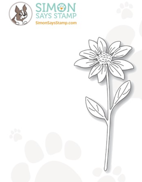 Simon Says Stamp ETCHED LAYERED DAISY STEM Wafer Dies s710 Stamptember