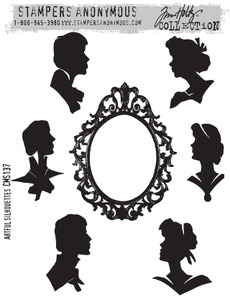 Tim Holtz Cling Rubber Stamps ARTFUL SILHOUETTES cms137 Preview Image