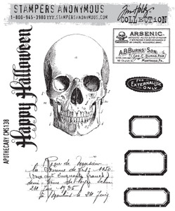 Tim Holtz Cling Rubber Stamps APOTHECARY cms138 *