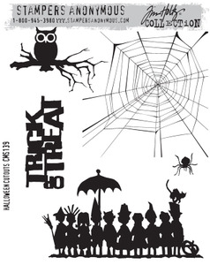 Tim Holtz Cling Rubber Stamps HALLOWEEN CUTOUTS CMS139