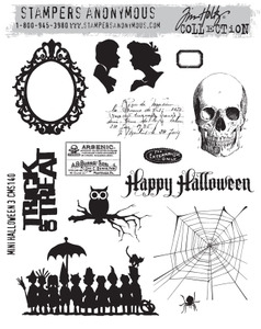 Tim Holtz Cling Rubber Stamps  MINI HALLOWEEN 3 CMS140 zoom image