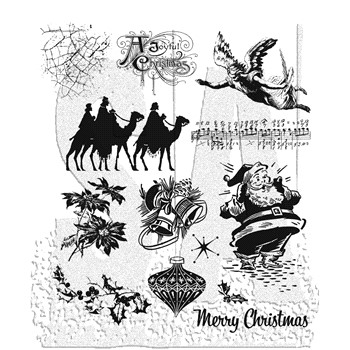 Tim Holtz Cling Rubber Stamps MINI HOLIDAYS 4 CMS142