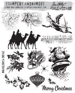 Tim Holtz Cling Rubber Stamps MINI HOLIDAYS 4 CMS142 zoom image