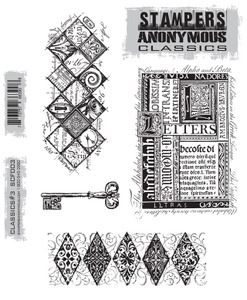 Stampers Anonymous Cling Rubber Stamps CLASSICS #3 SCF003