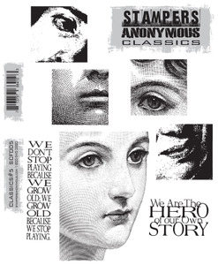 Stampers Anonymous Cling Rubber Stamps CLASSICS #5 SCF005 zoom image