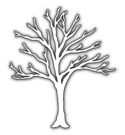 Impression Obsession Steel Dies BARE TREE DIE006-V