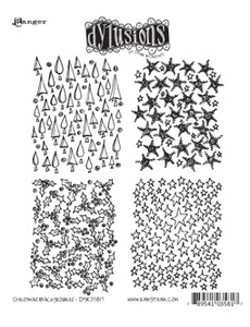 Dyan Reaveley CHRISTMAS BACKGROUNDS Stamp Set Dylusions Cling Unmounted Rubber DYR35817 zoom image