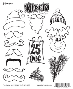 Dyan Reaveley CHRISTMAS ACCESSORIES Stamp Set Dylusions Cling Unmounted Rubber DYR35800 zoom image