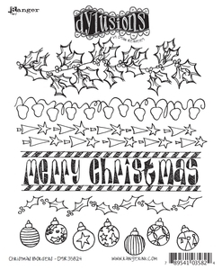 Dyan Reaveley CHRISTMAS BORDERS Stamp Set Dylusions Cling Unmounted Rubber DYR35824