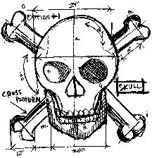 Tim Holtz Rubber Stamp SKULL SKETCH Stampers Anonymous P1-1942 zoom image