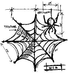 Tim Holtz Rubber Stamp WEB SKETCH P1-1943 * Preview Image