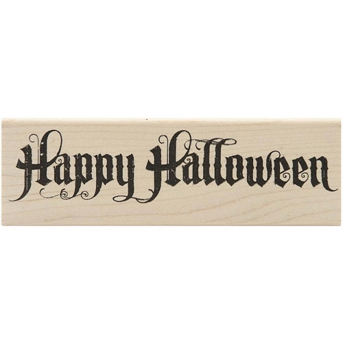 Tim Holtz Rubber Stamp HALLOWEEN SCROLL Stampers Anonymous K4-1962 Preview Image