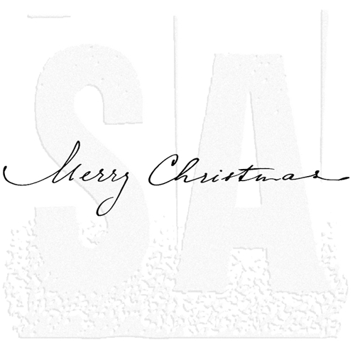 Tim Holtz Rubber Stamp MERRY CHRISTMAS SCRIPT Stampers Anonymous K6-1971 Preview Image