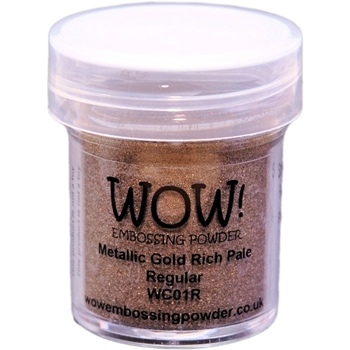 WOW Embossing Powder GOLD RICH PALE Regular WC01R
