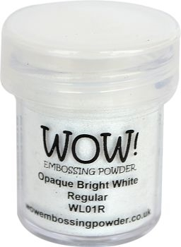 WOW Embossing Powder OPAQUE BRIGHT WHITE REGULAR WL01R Preview Image