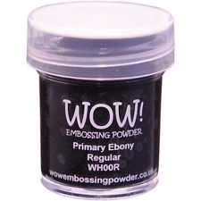 WOW Embossing Powder PRIMARY EBONY REGULAR WH00R