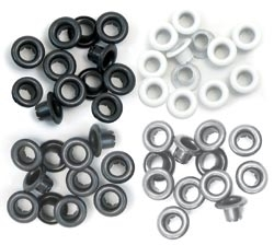 We R Memory Keepers GREY Standard Eyelets 41582-4 zoom image