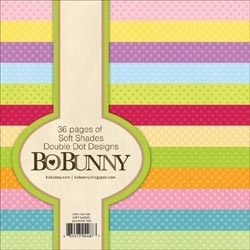 BoBunny 6 x 6 SOFT SHADES Paper Pad Double Dot 10017487 Preview Image