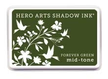 Hero Arts Shadow Ink Pad FOREVER GREEN Mid-Tone AF229