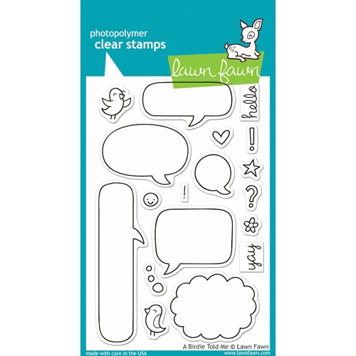 Lawn Fawn A BIRDIE TOLD ME Clear Stamps Preview Image