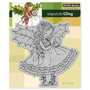 Penny Black Cling Stamp FAIRY HOLLY Rubber Unmounted 40-173* zoom image