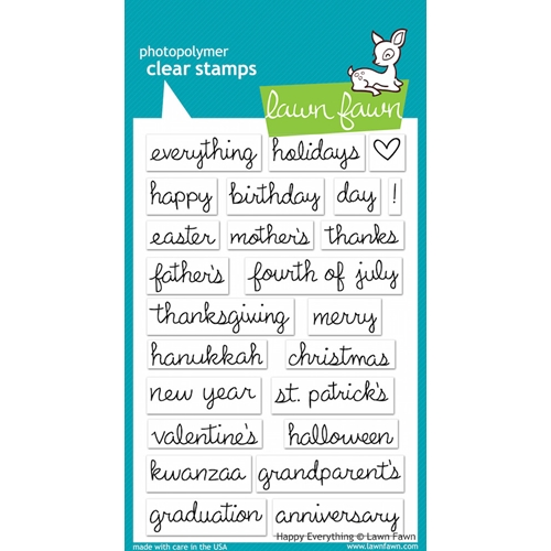 Lawn Fawn HAPPY EVERYTHING Clear Stamps Preview Image
