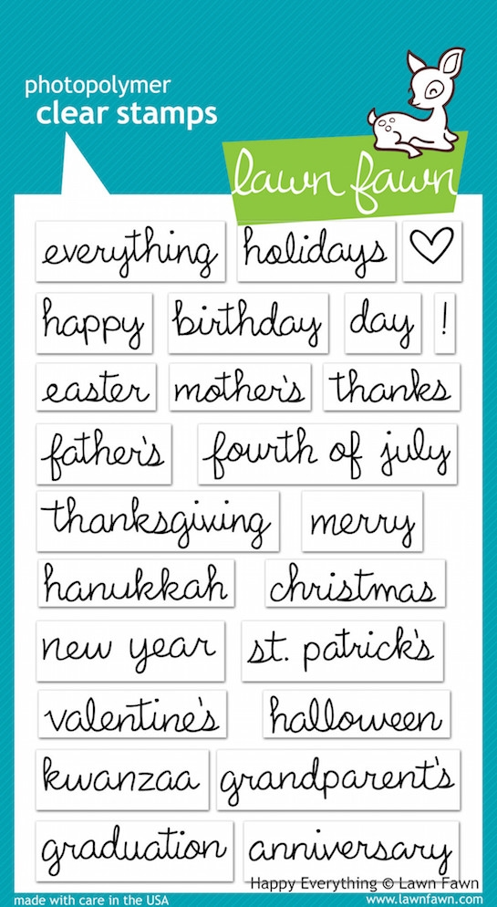 Lawn Fawn HAPPY EVERYTHING Clear Stamps zoom image