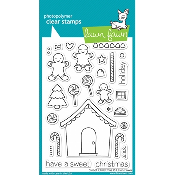 Lawn Fawn SWEET CHRISTMAS Clear Stamps lf426