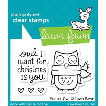 Lawn Fawn WINTER OWL Clear Stamps