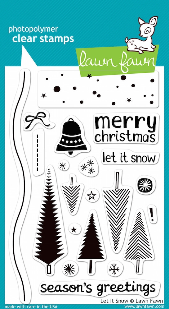 Lawn Fawn LET IT SNOW Clear Stamps zoom image