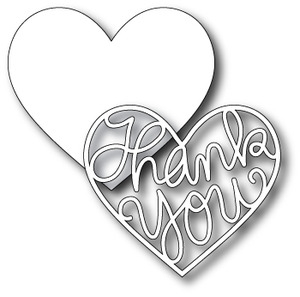 Simon Says Stamp THANK YOU HEART Wafer Dies S120 *