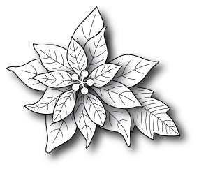 Poppy Stamps BLOOMING POINSETTIA Craft Die 861 zoom image