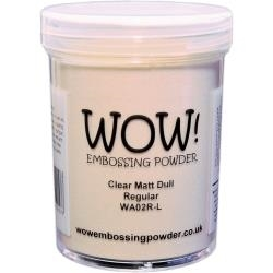 WOW Embossing Powder CLEAR MATTE DULL LARGE Regular WA02R-L