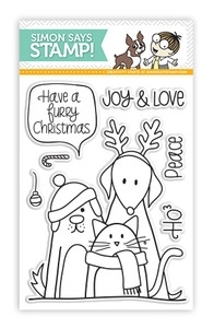 Simon Says Clear Stamps FURRY CHRISTMAS Friends Pets sss101204 zoom image