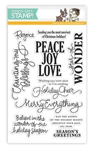 Simon Says Clear Stamps MERRY EVERYTHING Christmas SSS11120 zoom image