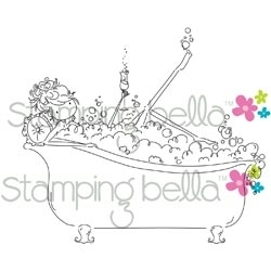 Stamping Bella Cling Stamp UPTOWN GIRL BUBBLES LOVES HER BUBBLY Rubber UM EB233 zoom image