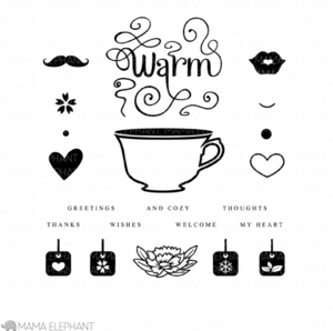 Mama Elephant Clear Stamps CUP OF WISHES* zoom image