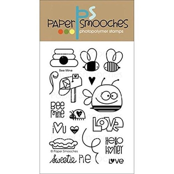 Paper Smooches BEE MINE Clear Stamps Kim Hughes*