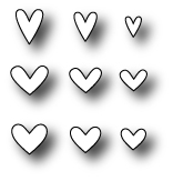 Simon Says Stamp MINI HEARTS SET Wafer Dies S142